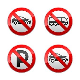 Set prohibited signs - transport