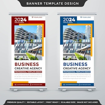 Set of promotion display banner template premium style