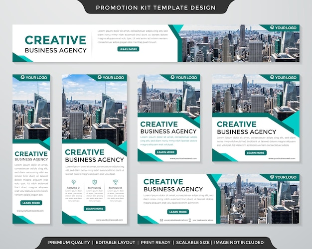 Set of promotion kit template premium style