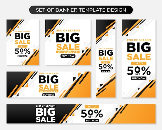 Set of promotion modern banner template