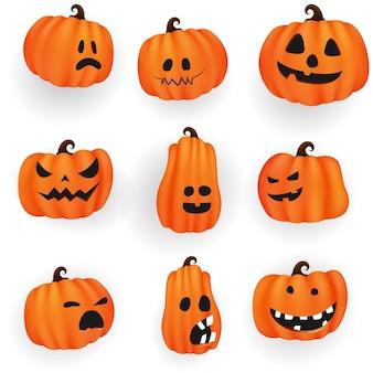 Набор тыкв из коллекции хэллоуин страшно и смешно