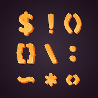 Set of punctuation marks in 3d style