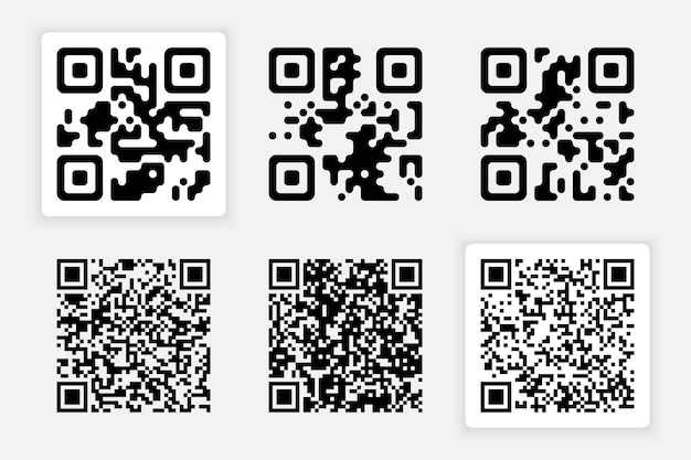 Set of qr codes for your design
