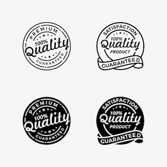 Set quality guaranteed badge emblem stamp logo design