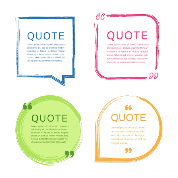 Set of quote frames templates.