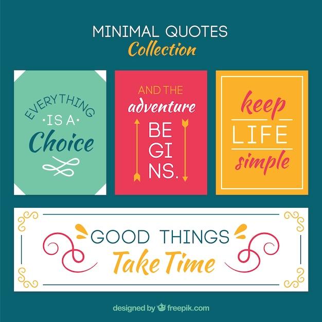 Set di citazioni, stile minimal