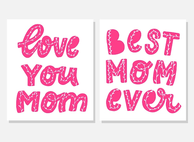 Set of quotes for mother's day card