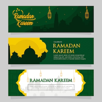 Set of ramadan banner set