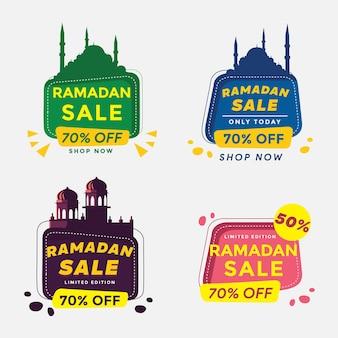 Set ramadan kareem sale design suitable for greeting card