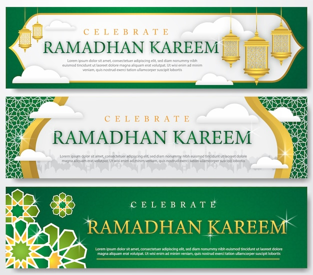 Set of ramadhan banner