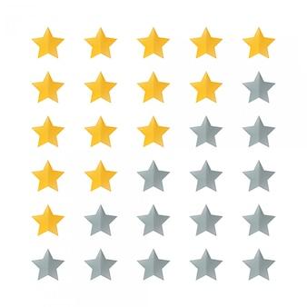 Set rating stars icon