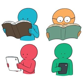 Set of reader