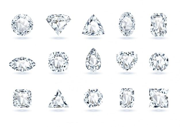Set of realistic gems