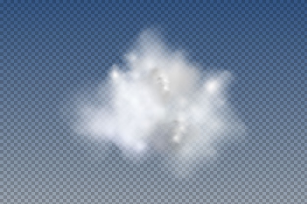 Set of realistic  isolated and  transparent  clouds,fog or smoke   graphic element  .   design shape for logo, web and print.
