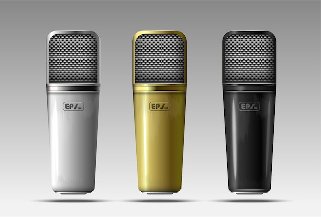 Set of realistic microphones