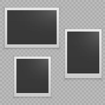 Set of realistic photo frame.