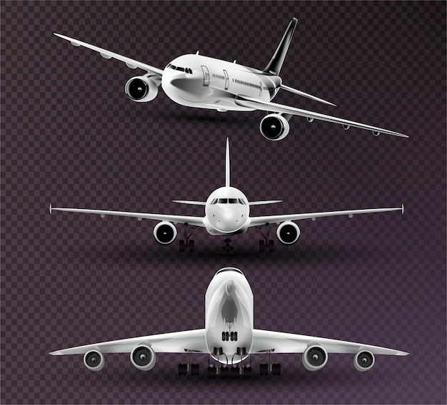 Set of realistic planes