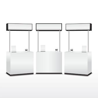 Set di tavolo da banco promozione realistica