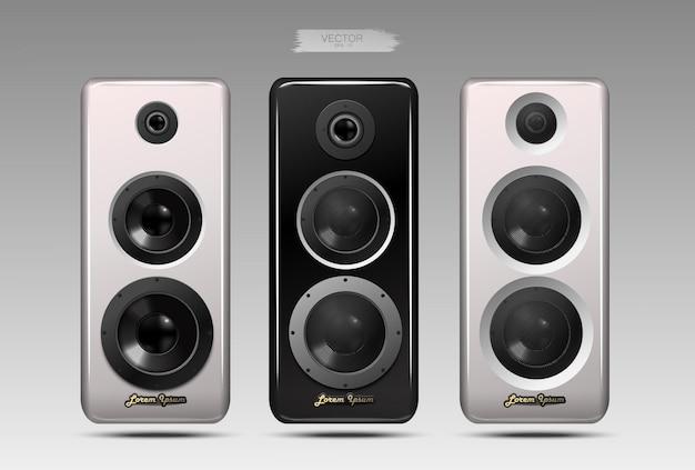 Set of realistic speakers.