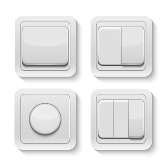 Set of realistic switches