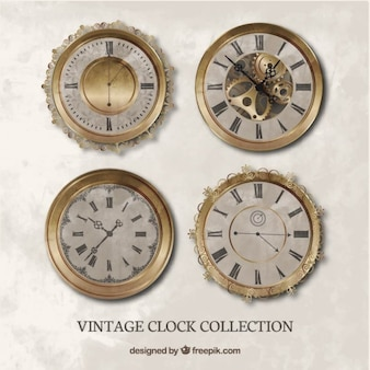 Set of realistic vintage watches
