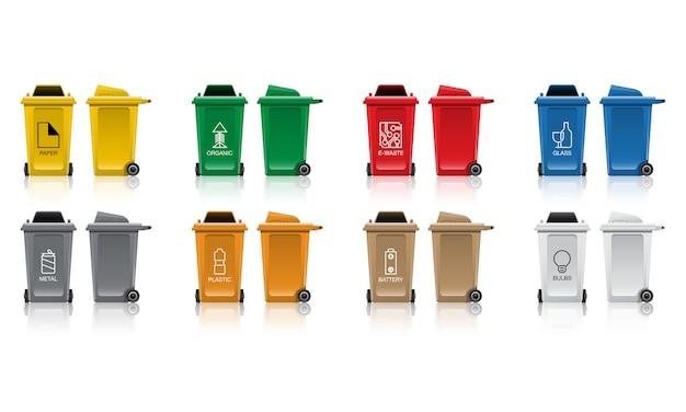 Set of recycle bin