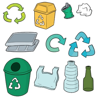 Set of recycle garbage