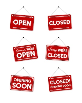Set red frame sorry we're closed and opening soon.