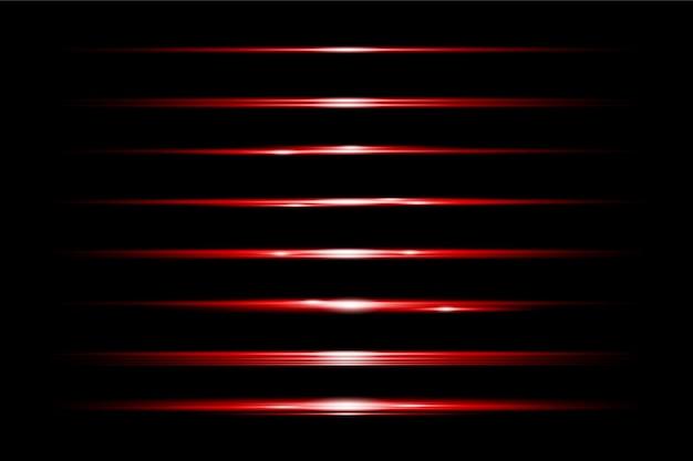 Установить красный из прозрачных световых бликов премиум прозрачный eps