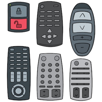 Set of remote control