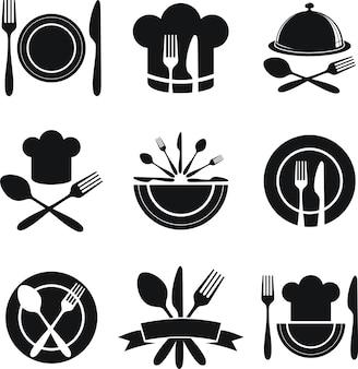 Set of restaurant menu