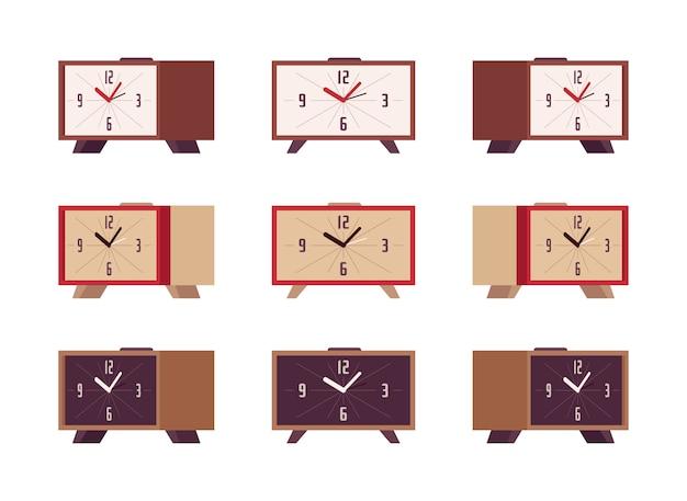 Set of retro alarm clocks