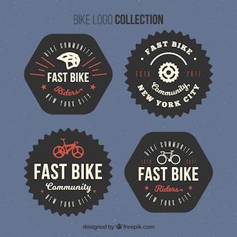 Set of retro bicycle logos