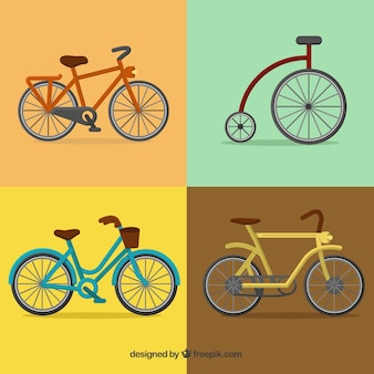 Set of retro bikes