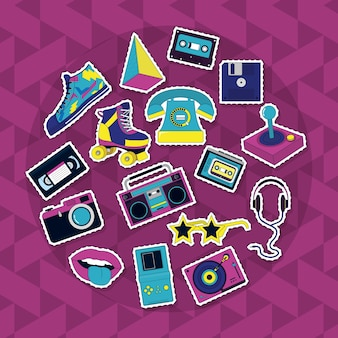 Set of retro icons
