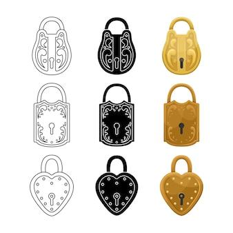 Set of retro locks