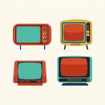 Set of retro tv illustration