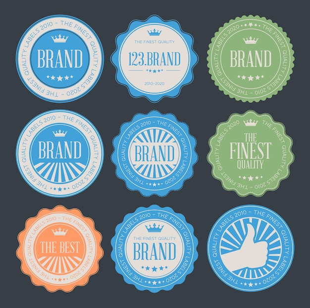Set of retro vintage logo badges