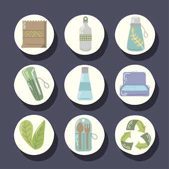 Set of reusable objects