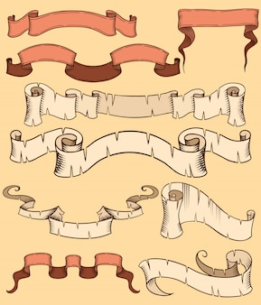 Set of ribbon old style