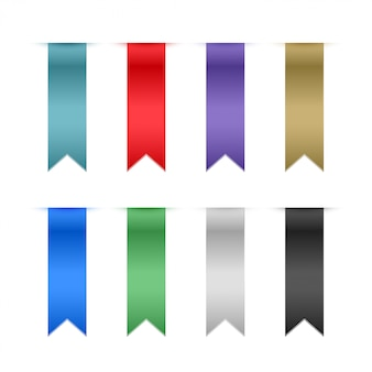 Set of ribbons elements
