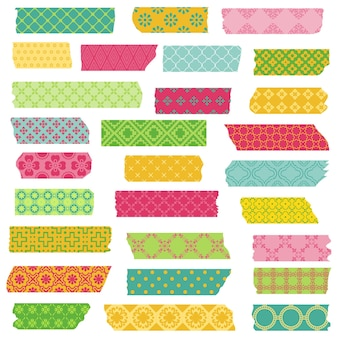 Set of ribbons and stickers