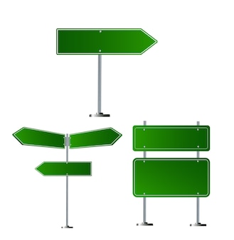 Set of road signs isolated on transparent background vector illustration