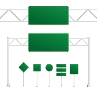 Set of road signs isolated on transparent background. vector stock illustration.