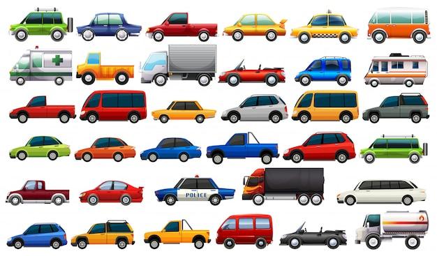 A set of road vehicles