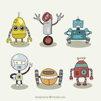 Set of robot drawings