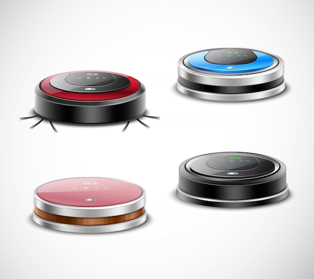 Set of robotic vacuum cleaners