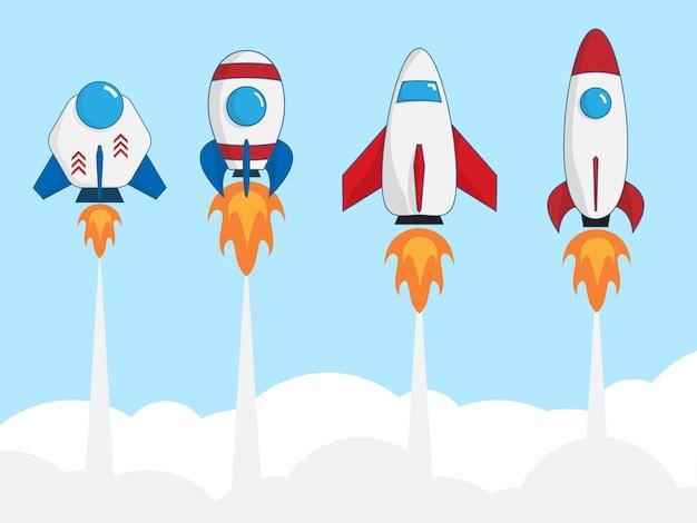 Set of rocket launcher, startup