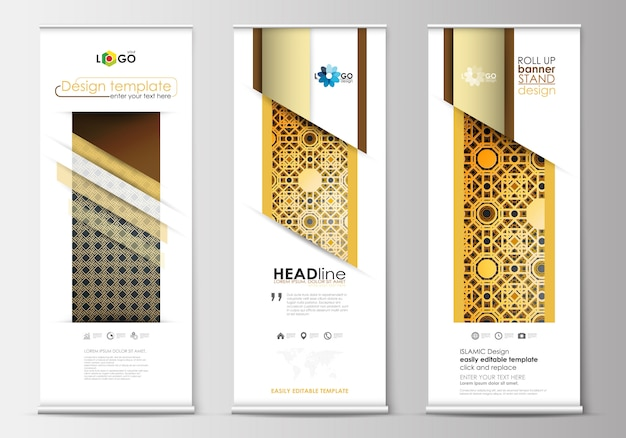 Umrah Banner: Elegant Ramadan Flyer With Golden Details Vector