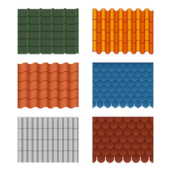 Set of roof tiles
